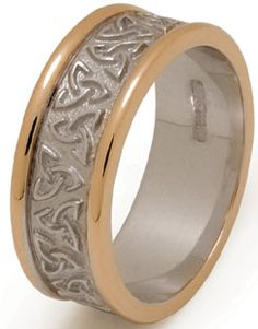 Trinity Knot Wedding Band with Rims