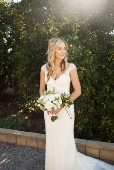 So simply elegant! View the full wedding here: http://thedailywedding.com/2016/01/12/radiant-courtyard-wedding-courtney-justin/