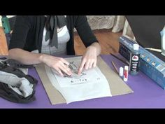 How to Stencil Your Drawing Onto a Shirt : Being Crafty