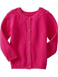 Pair with a fun color skinny jeans Button-Front Cardis for Baby