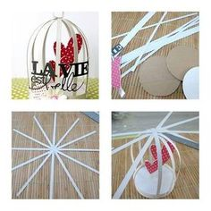 Have fun with DIY bird cage decorations by taking ideas from the awesome collection of ideas handpicked for you. Decorate your home with kids DIY bird cages, bird cage planters for garden and more. Kids Crafts, Clay Crafts, Diy And Crafts, Paper Crafts, Paper Birds, Paper Flowers, Diy Bird Cage, Bird Cages, Diy Y Manualidades