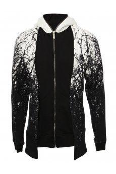 Tangled Tree Print Hooded Sweatshirt Black from the #GarethPugh #AW13 #Menswear…