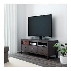 HEMNES Tv-taso - mustanruskea - IKEA