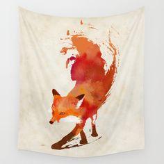 Vulpes vulpes Wall Tapestry by Robert Farkas | Society6