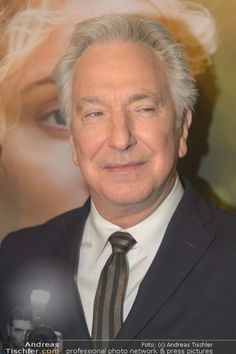 """April 30, 2015 -- Alan Rickman promoting """"A Little Chaos"""" at a premiere, I think in New York."""