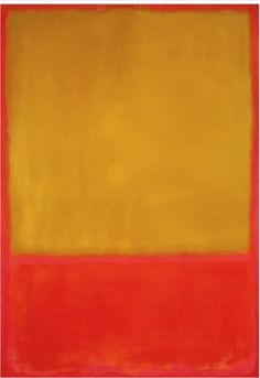 Mark Rothko, Untitled (Ochre and red on red), 1954, Oil on canvas, 92 5/8 x 63 ¾ in,