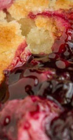 Southern dessert, Grandma's Old Fashioned Blackberry Cobbler, buttery crust over warm tart blackberries. Blackberry Dessert, Blackberry Recipes, Fruit Recipes, Gourmet Recipes, Sweet Recipes, Southern Blackberry Cobbler, Old Fashioned Blackberry Cobbler, Cake Recipes, Blackberry Pie