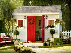 Are you looking garden shed plans? I have here few tips and suggestions on how to create the perfect garden shed plans for you. Backyard Sheds, Outdoor Sheds, Garden Sheds, Backyard Office, Backyard Cottage, Outdoor Toys, Outdoor Storage, Garden Tools, Craft Shed