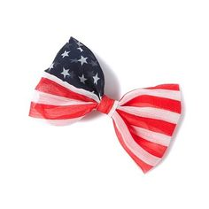 Stars and Stripes Flag Bow Barrette   Claire's