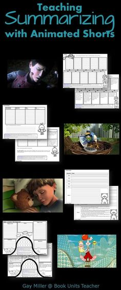 Free Printables to Use with Animated Shorts (Summarizing) #FilmSchoolsReview