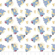 Eeyore on White Fabric / Winnie the Pooh Fabric Eeyore / 85430106 Camelot / Winnie the Pooh by the yard / Yardage and  Fat Quarters by SewWhatQuiltShop on Etsy