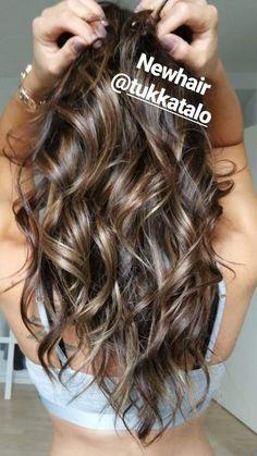 """#Highlights #brownhair #hairextensions #microring #coldbrown #tukkatalo """"newhair #longhair #curls Brown Hair, Hair Extensions, Curls, Long Hair Styles, Highlights, Beauty, Chestnut Hair, Weave Hair Extensions, Roller Curls"""