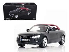 2009 Audi A5 Convertible Brilliant Black 1:18 Diecast Model Car - 188355