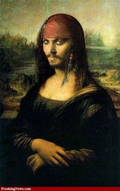 Mona Lisa Jack Sparrow