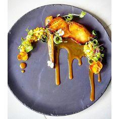 """foodartchefs: By @cookgel83 """"Black cod parsnip2 confit and sous vide cucumber…"""
