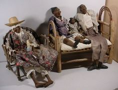 DADDY LONG LEGS Doll collection with Miniature Adirondack Wood Furniture 6 dolls