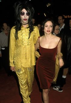 Marilyn Manson and Rose McGowan | 14 Rock 'n' Roll Couples You Might Have Totally Forgotten About