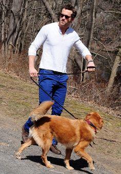 Ryan Reynolds and Baxter. #adoptadog #dogbff #love