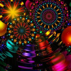 Holiday Fractal by Schmedgar  **** Late night last night. Not seeing clearly today. Things are spinning and a big blur.