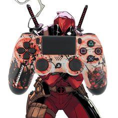 MorbidStix - Custom Deadpool PlayStation 4 Controller, $79.99 (http://www.morbidstix.com/custom-deadpool-playstation-4-controller/)