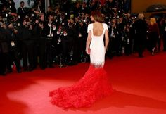 Cheryl Cole in Stephane Rolland at Cannes