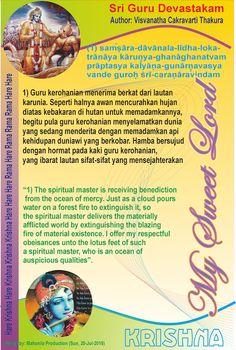 Nitai Gaura Krishna Center Batam Kepulauan Riau Indonesia: Sri Guru Devastakam (Bait 1)