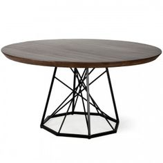 Rustic Round Metal Cris-Cross Base Table -Industrial Cris-cross metal base dining table with wood top , Industrial Round Dining Table, Metal Base Dining Table, Country Dining Tables, Pedestal Dining Table, Dining Table In Kitchen, Rustic Table, Dining Rooms, Industrial Style Furniture, Rustic Industrial