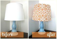 DIY Fabric Lampshade Recover Tutorial