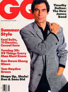 Timothy Dalton for GQ, June 1987