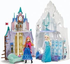 (NEW) Disney Frozen 2 in 1 Castle & Ice Palace Playset 2014 (EXPEDITED SHIPPING) #DollHouse