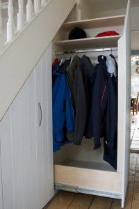 really great local company who specialise in under stair storage solution. like the pics here of a job they did (hiding coats and shoes which would totally cram the hallway)