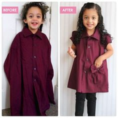 From Daddy's Work Shirt to Toddler Tunic – KCW Winter Challenge – UPCYCLED | Candice Ayala