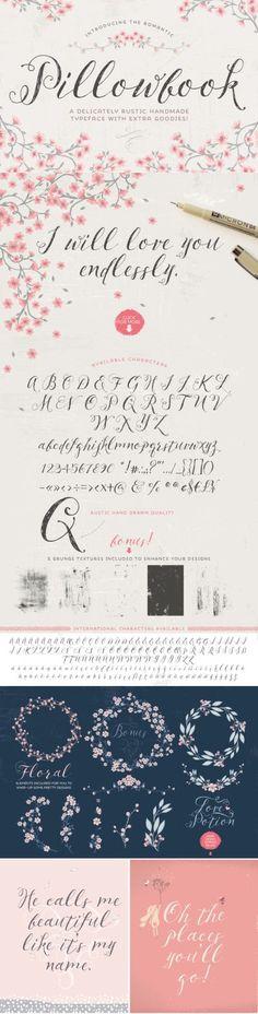 Pillowbook font by Lisa Glanze - a gorgeous romantic typeface http://crtv.mk/a02u9