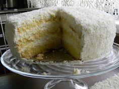 Kuchnia bez glutenu: Tort kokosowy - najprostszy (bezglutenowy) Gluten Free Cakes, Vanilla Cake, Cheese, Desserts, Food, Tailgate Desserts, Deserts, Essen, Postres