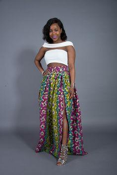 African print maxi skirt by L'AVIYE #Laviye #LaviyeGirls #AfricanFashion…