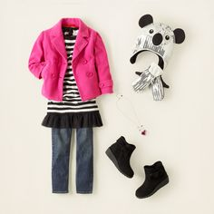 girl - jackets & blazers - fleece pea coat | Children's Clothing | Kids Clothes | The Children's Place