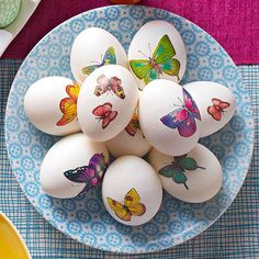 Tattoo Easter Eggs, or just get really cute stickers for them to decorate with  :)