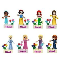 Jiego Fairy Tales Snow White/mermaid/jasmine Princess Minifigure Building Block Model Action Figure Toys Compatible with Lego