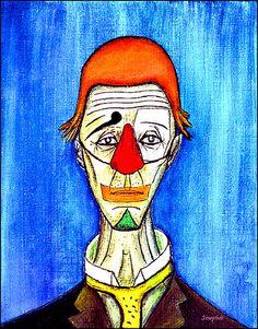 Le clown triste - Bernard Buffet Theme Carnaval, Clown Cake, Clown Paintings, Le Clown, Magritte, Buffets, Magazine Art, Medium Art, Carnival