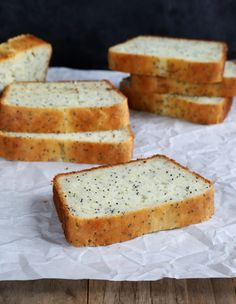 Gluten Free Lemon Poppyseed Bread - Can't wait to try this-- corn sensitive folks substitute starch with tapioca starch and remember to make or purchase gf baking soda. Gluten Free Muffins, Gluten Free Sweets, Gluten Free Cooking, Gluten Free Recipes, Gf Recipes, Foods With Gluten, Thanksgiving Desserts, Sweet Recipes, Just For You