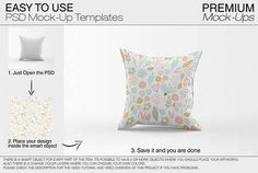 Pillow Mock-ups This Pillow Mockup pack allows you to quickly display your designs and layouts into a digital photo realistic showcase. Buy Pillows, Throw Pillows, Free Design, Your Design, Aesthetic Template, Mockup Templates, Geometric Art, Objects, Layout