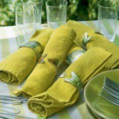 Fabriquer des ronds de serviettes en forme de poissons
