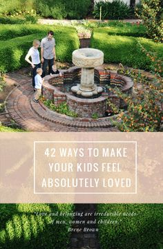 We can't control what our children experience outside our homes, but *inside* is another story. Love this list for parents of 42 ways you can make your kids feel absolutely loved! Parenting Advice, Kids And Parenting, Peaceful Parenting, Raising Kids, Best Mom, Baby Love, Activities For Kids, Baby Kids, Baby Baby