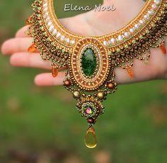 Venta 20% de descuento collar de perlas con el cromo por ElenNoel