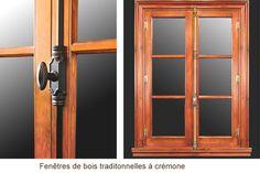 Choix de fenêtres: fenêtres à battant, manivelle ou crémone