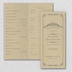 Wedding Day Grandeur - Program | Blissful Gatherings
