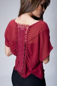 Blusas rojas con encaje 4