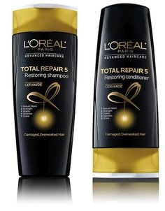 Repair Damaged Hair At Home With L'Oreal Paris Advanced Haircare Total Repair 5 Restoring Shampoo and Conditioner
