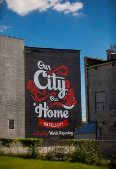 "The art of hand lettering Bryan Patrick Todd -""Louisville Mural"""