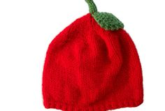 Red Apple Hat. Sizes baby, kid & adult size